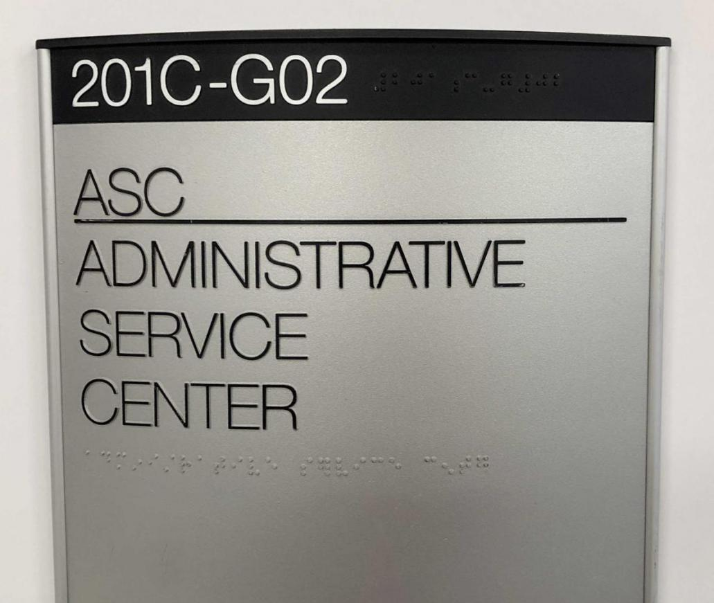ADA SEPARATE BRAILLE PLATES IN REMOVABLE CURVED ALUMINUM FRAME