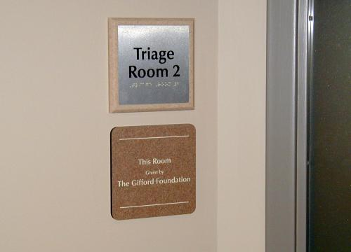 ADA BRAILLE METAL SIGN WITH CUSTOM DESIGN BACKER