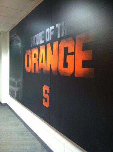 SYRACUSE UNIVERSITY SPORTS DIGITAL PRINT WALL GRAPHICS