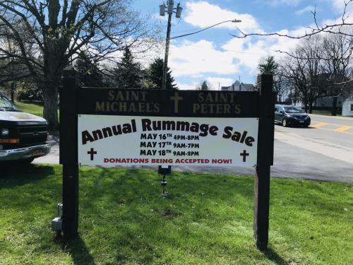 CHURCH RUMMAGE SALE BANNER