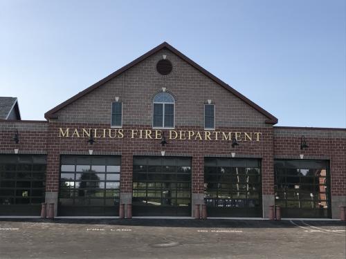 Manlius Fire Department aluminum painted dimensional letters
