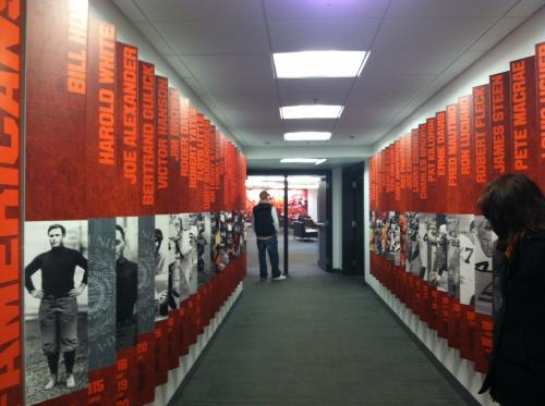 SYRACUSE UNIVERSITY ATHLETICS DISPLAY