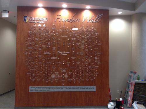 GUTHRIE CORNING HOSPITAL DONOR WALL DISPLAY