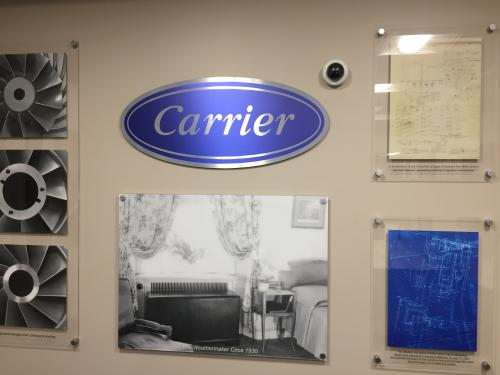 CARRIER WALL DISPLAY