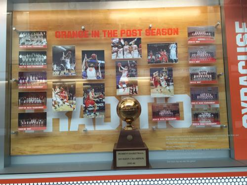 SYRACUSE UNIVERSITY WOMEN'S BASKETBALL POST SEASON DISPLAY