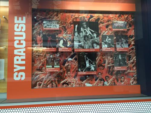 SYRACUSE UNIVERSITY WOMEN'S BASKETBALL DISPLAY