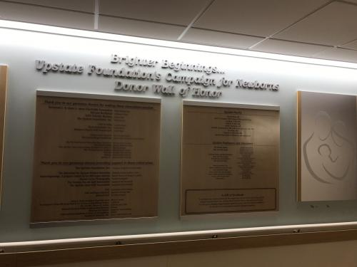 UPSTATE HOSPITAL FOUNDATION DONOR WALL DISPLAY