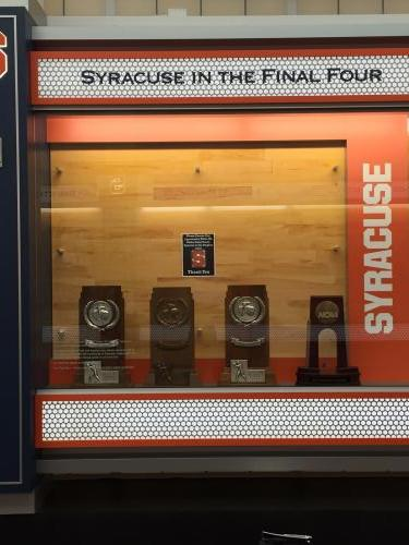 SYRACUSE UNIVERSITY BASKETBALL NCAA TOURNAMENT FINAL FOUR TROPHY'S