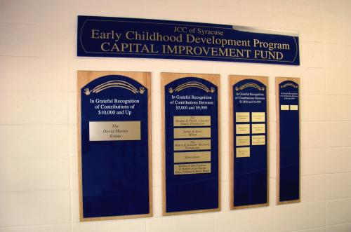 JEWISH COMMUNITY CENTER DONOR WALL DISPLAY