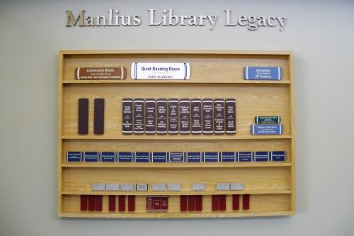 MANLIUS LIBRARY BOOKS DISPLAY