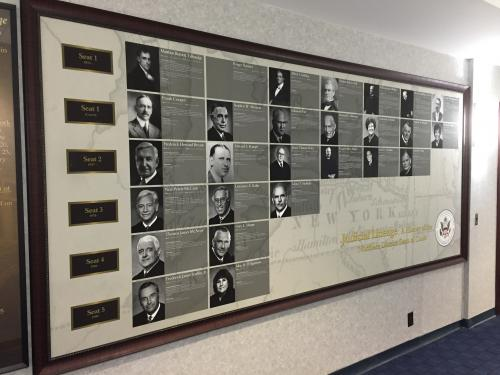 COURT SEATING WALL DISPLAY