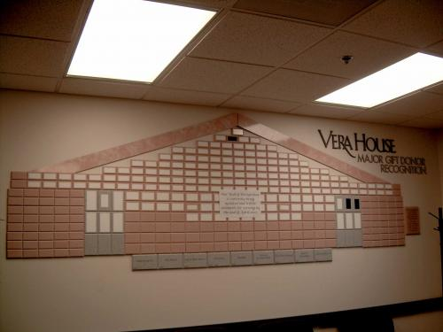 VERA HOUSE BUILDING DONOR WALL
