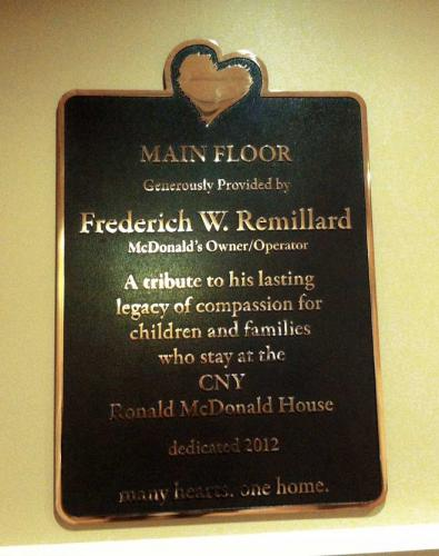 RONALD MCDONALD HOUSE CAST PLAQUE