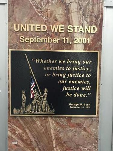 SEPTEMBER 11TH PLAQUE