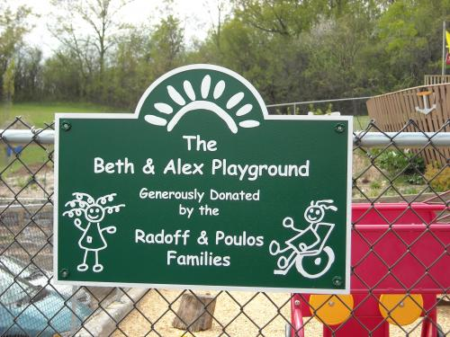 BETH & ALEX DONATED BY SIGN