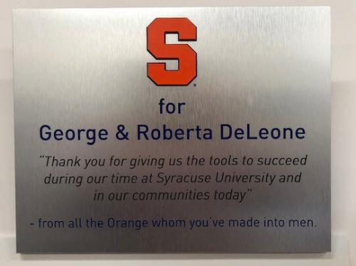 SYRACUSE UNIVERSITY METAL THANK YOU PLAQUE