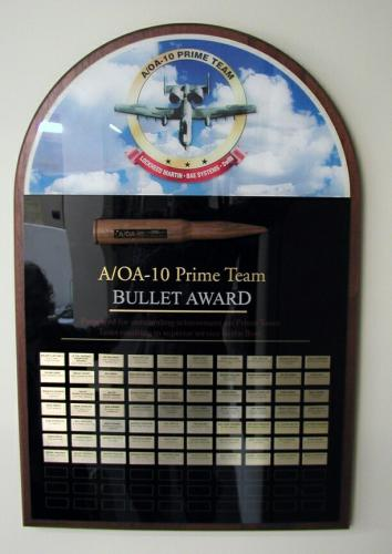 LOCKHEED MARTIN AWARD PLAQUE