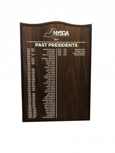 NYS GOLF ASSOCIATION PLAQUE