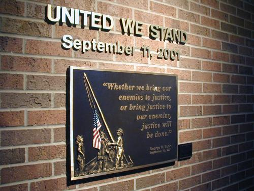 SEPTEMBER 11TH MEMORIAL CAST PLAQUE