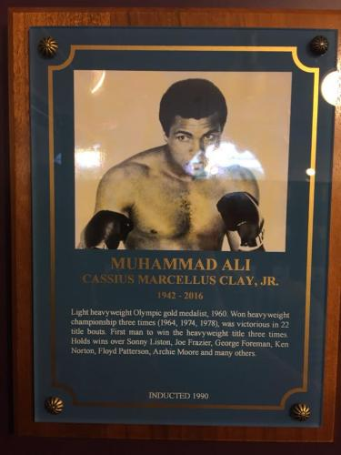 MUHAMMAD ALI HALL OF FAME PLAQUE