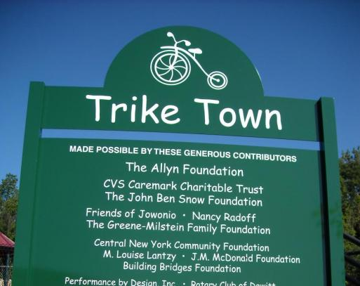 TRIKE TOWN DONATED BY POST & PANEL