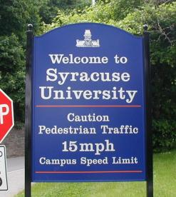 SYRACUSE UNIVERSITY SPEED LIMIT POST & PANEL
