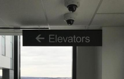 HANGING ELEVATOR DIRECTIONAL SIGN