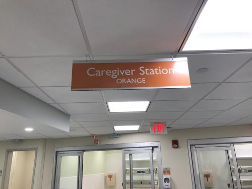 HANGING HOSPITAL STATION SIGN