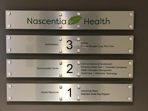 NASCENTIA HEALTH DIRECTORY DISPLAY
