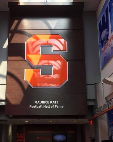 SYRACUSE UNIVERSITY FOOTBALL HALL OF FAME DIMENSIONAL LETTERS
