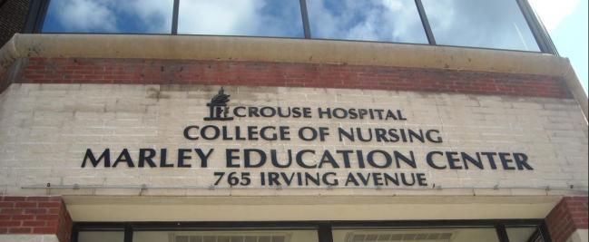 CROUSE HOSPITAL SYRACUSE COLLEGE OF NURSING DIMENSIONAL LETTERS AND LOGO