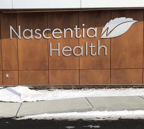 NASCENTIA HEALTH DIMENSIONAL LETTERS AND LOGO