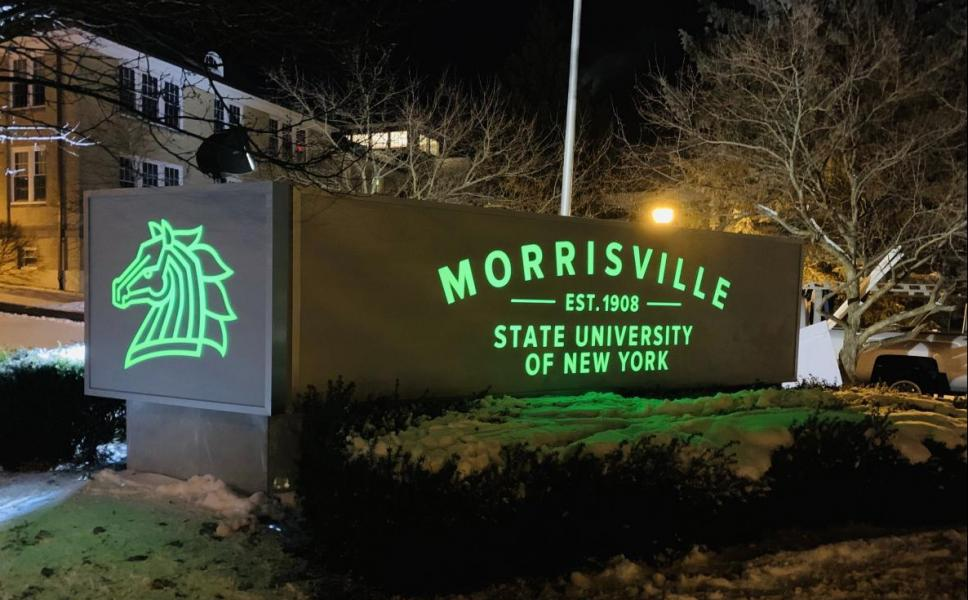 ILLUMINATED SIGN PANELS FOR SUNY MORRISVILLE