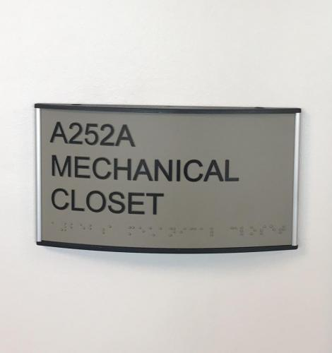 SUNY POLYTECH ADA ROOM SIGN IN CURVED FRAME