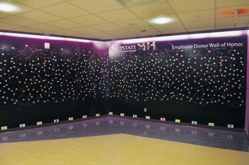 UPSTATE GOLISANO CHILDREN'S HOSPITAL CONSTELLATION EMPLOYEE DONOR WALL