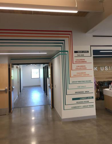 COLORED VINYL DIRECTIONS FOR DEWITT COMMUNITY LIBRARY